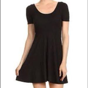 Victoria secret PINK black skater MINI dress xs